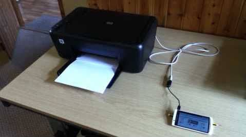 OTG Connection With Printer