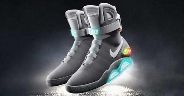 Nike Back to the future self lacing shoe