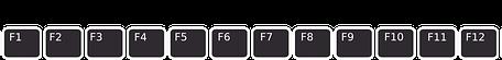 F1-F12 FUNCTION KEYS