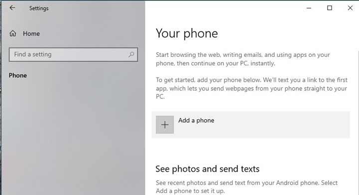 Link-phone-to-windows-10--settings